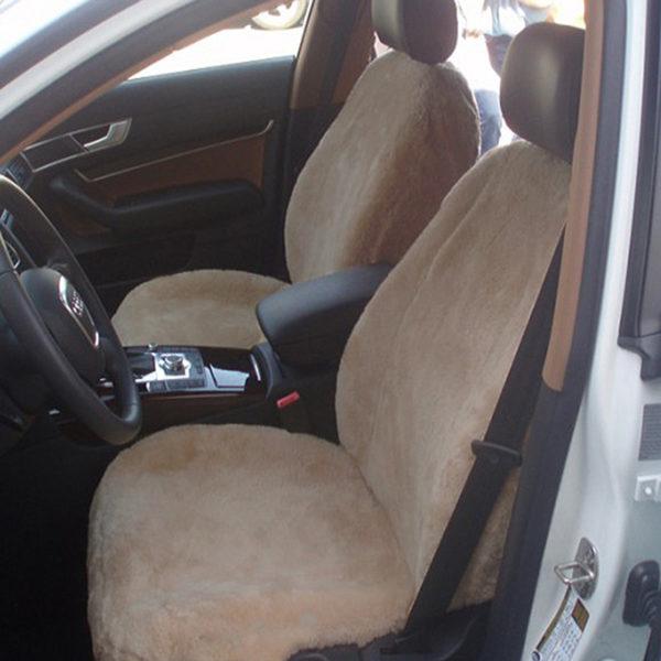 Lammfell Autositzbezug - Beige