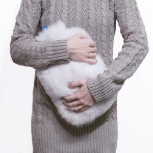 Lammfell wärmflasche - weiß