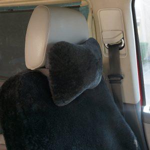 Pelz Autokissen / Kopfstütze